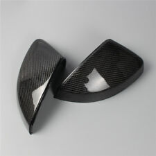 Pair Carbon Fiber Wing Side Mirror Cover Housing For AUDI A3 S3 8V 14-18 RS3
