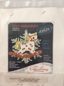 Edna Looney Horse Jeweled Tree Ornament Kit