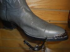 New Black/Gun Metal colored Cowboy Boot Tips/Toe Plates for Rounded Toed Boots