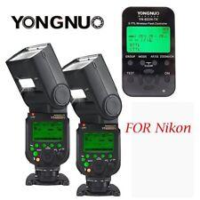 2x Yongnuo YN968N Kabellos Blitz Speedlite mit YN622N-TX Auslöser für Nikon