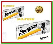 50 AA stilo + 50 AAA ministilo energizer industrial pile alcaline = 100 batterie