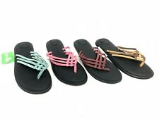 Sanuk Women's Yoga Salty Flip Flops Sandals 1103940 Strappy Blue Rose Chocolate