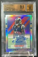 Todd Gurley Rookie Autograph 2/25 BGS 9.5 10 2015 Topps Chrome Refractor RC Auto