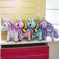 DIY Rainbow Horse Foil Balloons Walking Balloons Birthday Party Decor~JB
