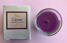Unique & Rare Cabernet Scented 2.5 oz Votive Candle by Scentations Glass/Boxed
