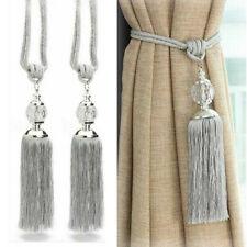 2Pcs Luxury Curtain Holdbacks Rope Tie Backs Tassel Tiebacks Crystal Ball Decor