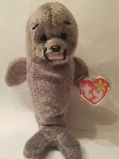 Ty Beanie Babies Original Rare Retired Slippery the Seal with Errors
