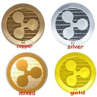Gold & Silver Ripple Commemorative Round Collectors Coin XRP Coins For Gifts