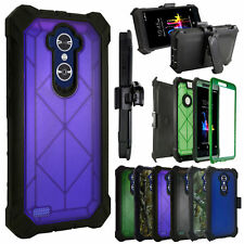 Built in Screen Case 360°Cover Crystal Holster For Zte Blade Max 3/N9560