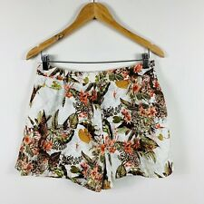 River Island Womens Shorts Size 12 Tropical Nature Theme With Pockets
