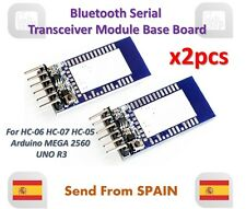 x2pcs Bluetooth Serial Transceiver Module Base Board Arduino HC-05 HC-06 HC-07