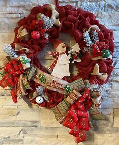 Wandkranz Türkranz für Weihnachten mit Juteband *Handgefertigt*