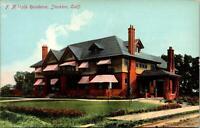 Stockton CA F N Vails Residence Postcard unused 1900s/10s