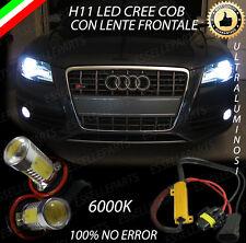 COPPIA LAMPADE FENDINEBBIA H11 LED CREE COB CANBUS AUDI A4 B8 6000K NO ERROR