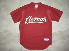 Vintage HOUSTON ASTROS Logo Red MAJESTIC Pullover Baseball Jersey USED LARGE