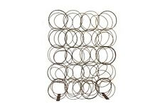 "108"" T Room Screen/Divider Rustic Aged Metal Oil Drum Rings Contemporary"