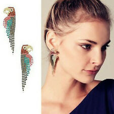 Lady Noble Parrot Dangle Drop Rhinestone Crystal Shiny Eve Club Party Earring C