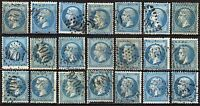#423 - Francia, Impero - Lotto di 21 francobolli - Usati