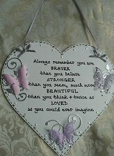 Heart Wooden Inspirational Decorative Plaques & Signs