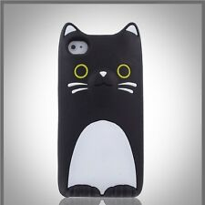 "FUNDA SILICONA PARA IPHONE 6 6S 4.7"" DIBUJOS EN 3D GATO ANIMALES CASE CAT COVER"