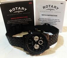 Rotary Men's Black Chronograph Bracelet Watch GB03778/04