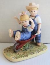 Homco Denim Days #15355-02 - Danny & Debbie - The Wheelbarrow