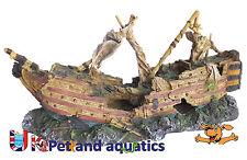 Aquarium Sail Ship Large Fish Tank Ornament 74cm