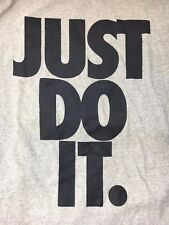 NWT NEW NIKE JUST DO IT ENLARGED BLOWN UP SHIRT GRAPHIC SIZE XL VINTAGE GRAY RUN