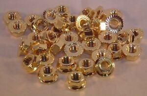 Bundmutter M8 GOLD vergoldet M8 Bund Mutter Opel VW