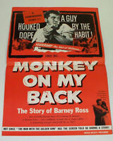 MONKEY ON MY BACK 1957 Movie Film STUDIO PRESSBOOK Hooked on Dope / Drugs