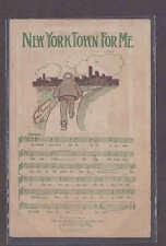 Ca 1905-1906 NEW YORK, RARE MUSIC POST CARD W/LYRICS & ILLUSTRATED IN COLOR