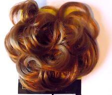 Chouchou extension postiche élastiqué en cheveux synthétiques blond cuivré