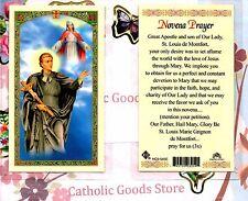 St. Saint Louis de Montfort - Novena Prayer  - Laminated  Holy Card