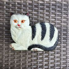 Cat Napkin Holder Painted Plastic 5 3/4� Long 1 1/4� Wide