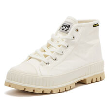 Palladium Pallashock Mid OG Womens Marshmallow White Ankle Boots LaceUp Canvas
