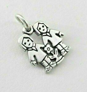 Retired James Avery Boy Girl Flower Charm Bracelet Solid 925 Sterling Silver