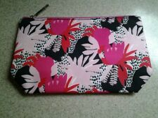 Lancome Makeup Cosmetic Bag Floral Multi 10 x 6 Zipper Fabric