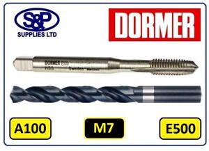 M7 Tap & Drill Set / E500 M7 2nd Tap & Dormer A100 HSS 6.0MM Drill Bit E500/A100