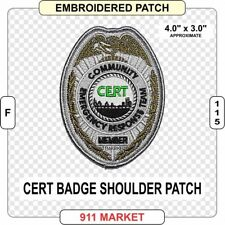 CERT Badge Patch Community Emergency Response Team FEMA United States US   F 115