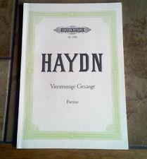 Haydn * Vierstimmige Gesänge * Partitur