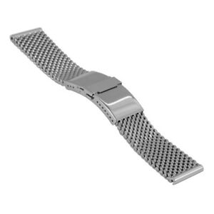 Staib Wrist Watch Band Milanaise/Mesh, Safety BAR, B 0 7/8x0 25/32in,2785
