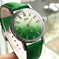 Vintage ZIM Green Men USSR Pobeda Watch Analog Gradient Mechanical SERVICED Rare