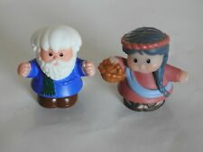 Fisher Price Little People Noah & his Wife figures