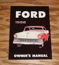 1956 Ford Owners Operators Manual 56 Victoria Sunliner