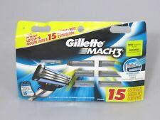 GILLETTE Mach3 Razor Blade Refills - 15 Cartridges