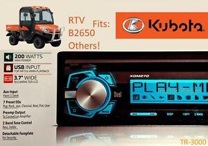 Kubota Direct Plug Play AM FM CD AUX Stereo Tractor Radio RTV LX B2650 RTX 1100
