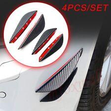 Carbon Fiber For Front Lip Bumper Splitter Fins Body Air Spoiler Car Accessories
