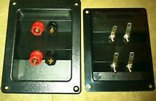 Rectangle Dual Speaker Input Gold Terminal Wire.Subwoofer Box Connector