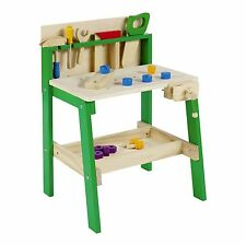 Kids Tool Work Bench Wooden DIY Table Work Creative Role Play Pretend Activity