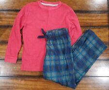 Old Navy Pajamas Sleepwear Girls Size SM Red Thermal Med Green Plaid Pants
